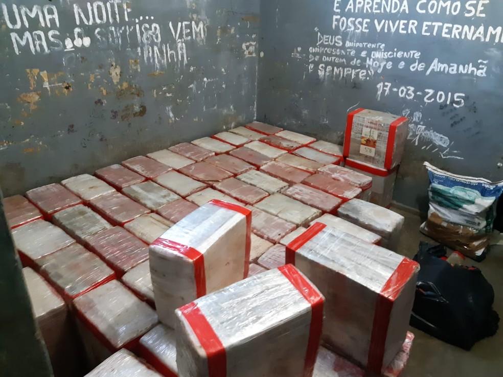 Droga  será armazenada na delegacia em Queluz  (Foto: Polícia Civil/Divulgação)