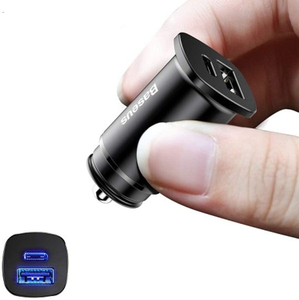 O carregador também conta com LEDs para identificar as portas USB quando estiver escuro — Foto: Divulgação/Baseus