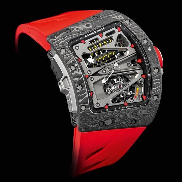 O relógio RM 70-01 Tourbillon Alain Prost da Richard Mille, usado por Pharrell em Paris (Foto: Reprodução/Instagram)
