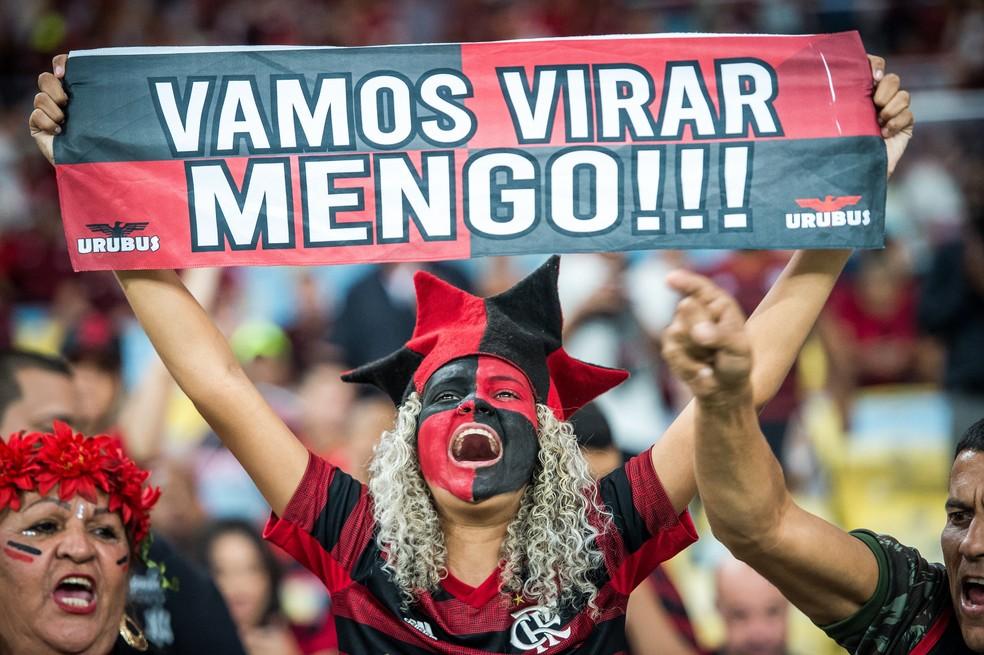 Torcida do Flamengo no Maracanã — Foto: Alexandre Vidal e Marcelo Cortes / Flamengo