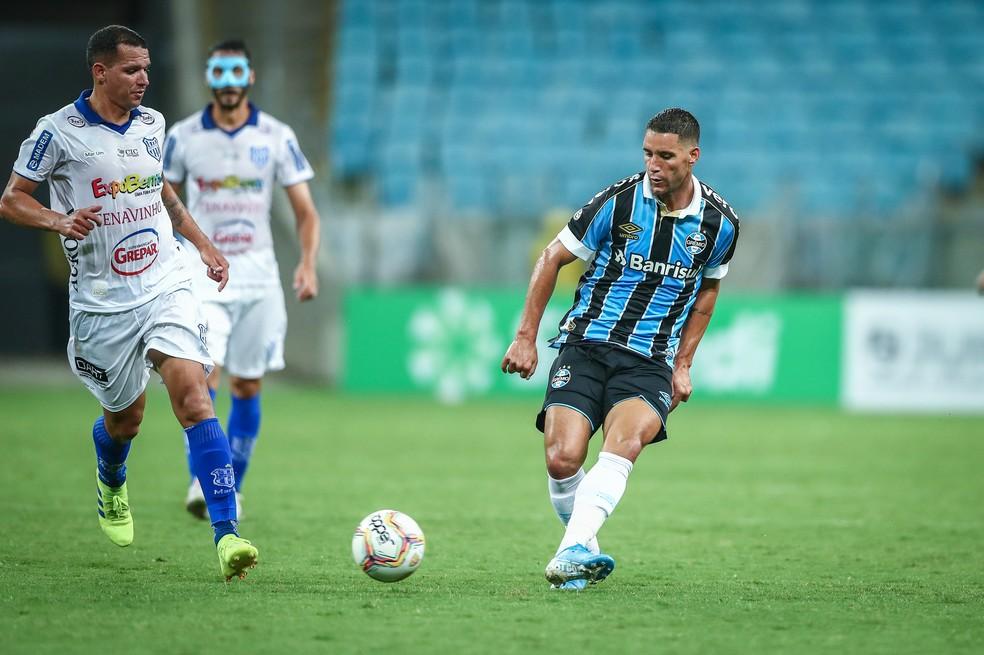 Thiago Neves em estreia pelo Grêmio — Foto: Lucas Uebel/Grêmio