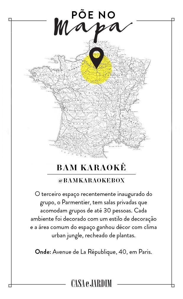 BAM Karaoke Parmentier, em Paris, na França  (Foto: Victor Amirabile)