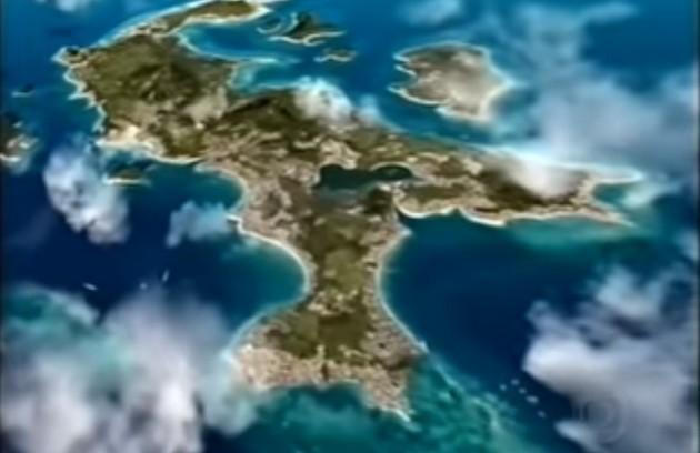 O mapa de Kubanacan era uma adaptação do mapa da República Dominicana (Foto: TV Globo)