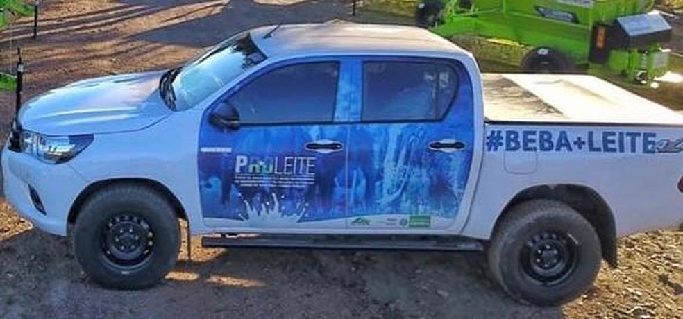 Carro da Emater foi roubado em Rondônia — Foto: Reprodução/Redes Sociais