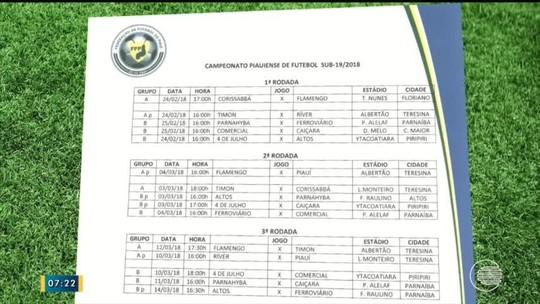 Picos anuncia desistência, e Piauiense sub-19 divulga nova tabela; veja confrontos