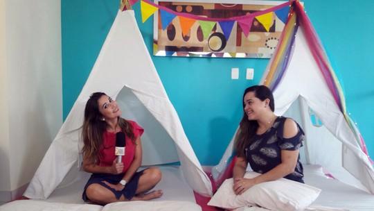 Cabana para festas de pijamas vira item essencial em quarto infantil