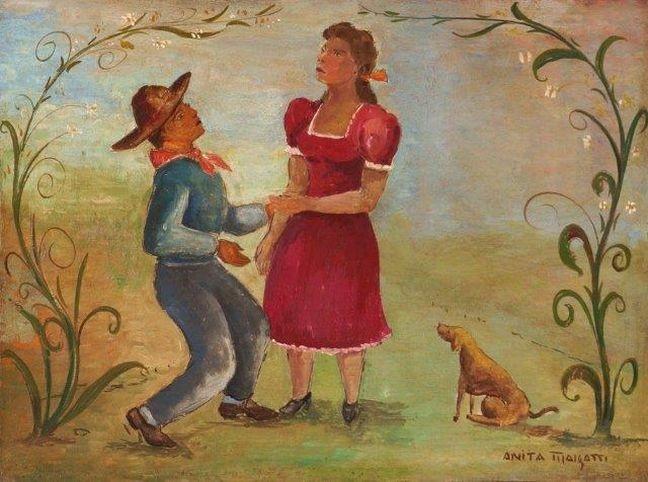 O Galanteio, óleo sobre tela, de Anita Malfatti (Foto: arteeartistas.com.br)