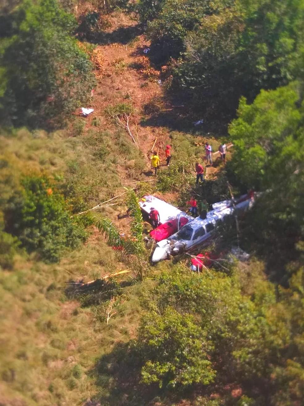 Acidente Aéreo em Autazes — Foto: Divulgação/PM