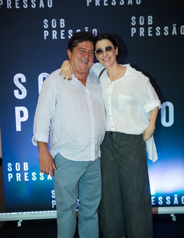 Stepan Nercessian e Fernanda Torres (Foto: Globo/Raquel Cunha)