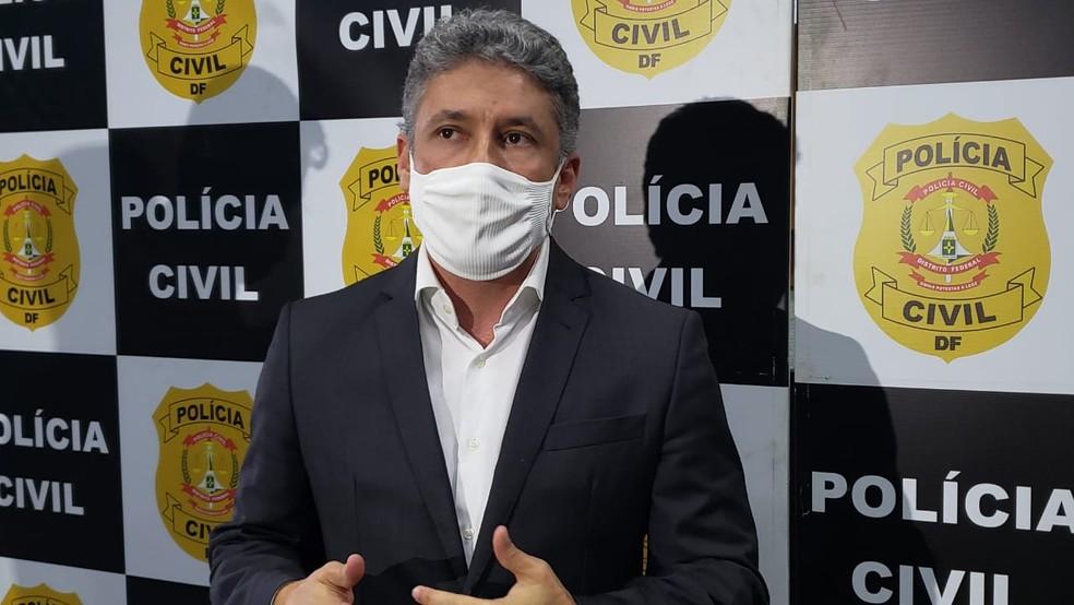 Delegado Raphael Seixas, do DF, responsável pela investigação da chacina cometida por Lázaro Barbosa, em Ceilândia — Foto: Mara Puljiz/G1
