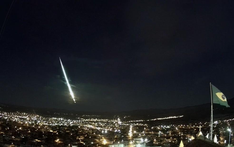 Meteoro é visto em cidades da Bahia — Foto: Reprodução/ Site Bramon Meteor