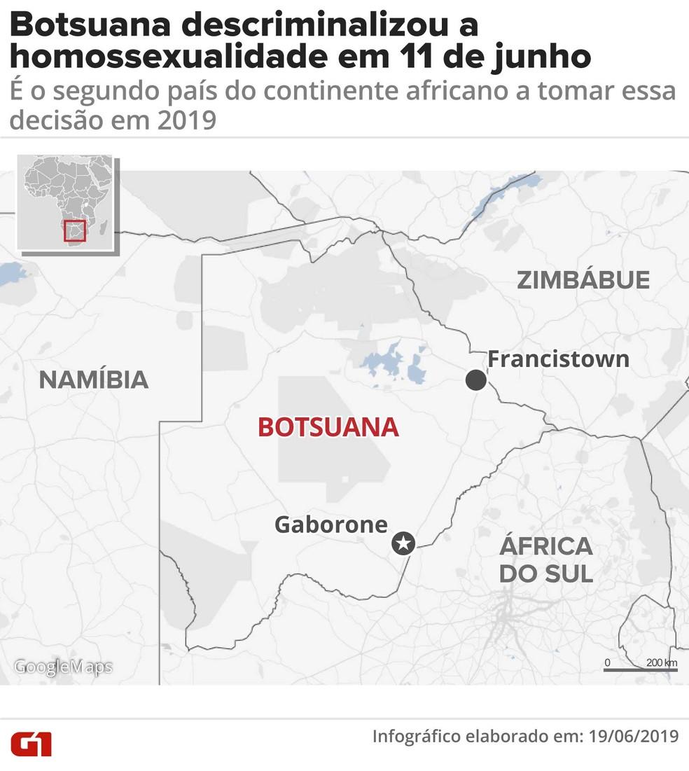Botsuana descriminalizou a homossexualidade em 11 de junho. — Foto: Rodrigo Sanches/G1