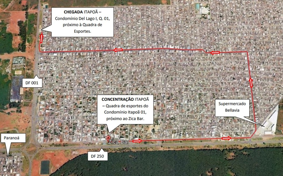 Alterações no trânsito para a 4ª Parada LGBTS do Itapoã — Foto: Detran-DF/ Divulgação