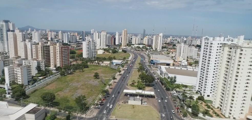 Cuiabá, capital de Mato Grosso — Foto: Reprodução/TVCA