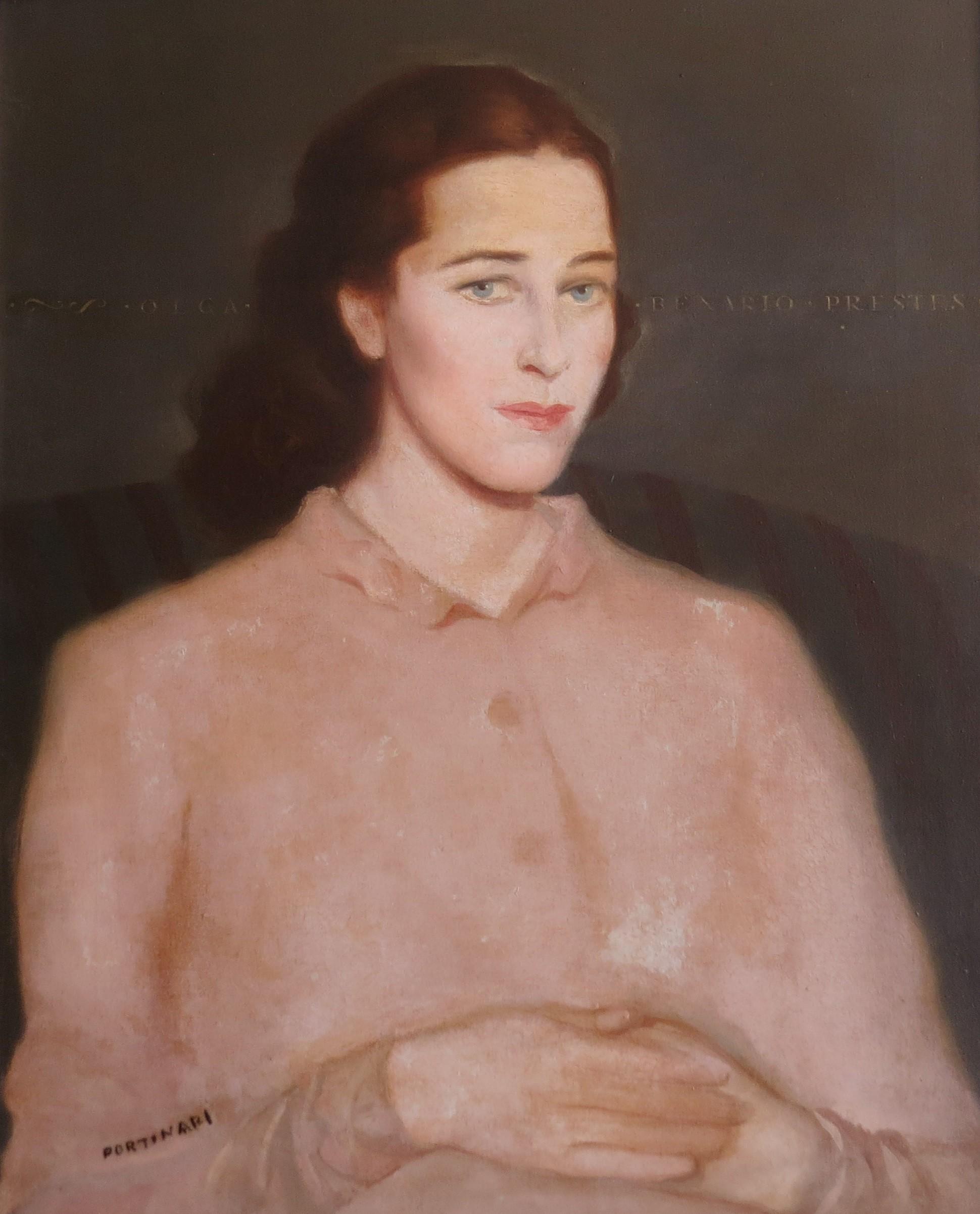 Retrato de Olga feito por Candido Portinari