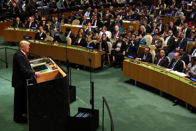 Presidente Donald Trump discursa à Assembleia Geral da ONU em 25 de setembro de 2018