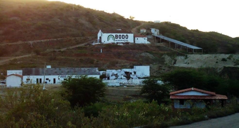 Desabamento aconteceu em mineradora de Bodó, na região Seridó potiguar (Foto: Aildo Bernardo)