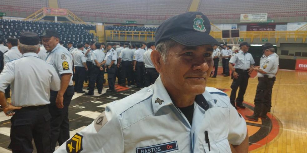 """Sargento Vilmar dos Navegantes Bastos diz que é um """"retorno necessário"""" diante do cenário de violência no estado. — Foto: João Pedro Ribeiro/TVM"""