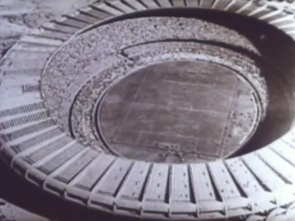 Maracanã em 1950 — Foto: Reprodução/ SporTV