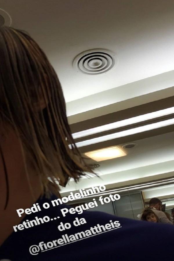 Rafa Brites corta as madeixas (Foto: Reprodução/Instagram)