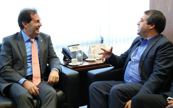Paulinho da Força e Ronaldo Nogueira (Foto: Foto: Edu Andrade - ASCOM/Ministério do Trabalho)