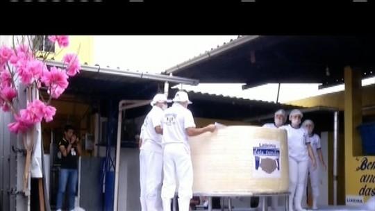 Ipanema bate recorde de maior queijo minas e maior doce de leite do país