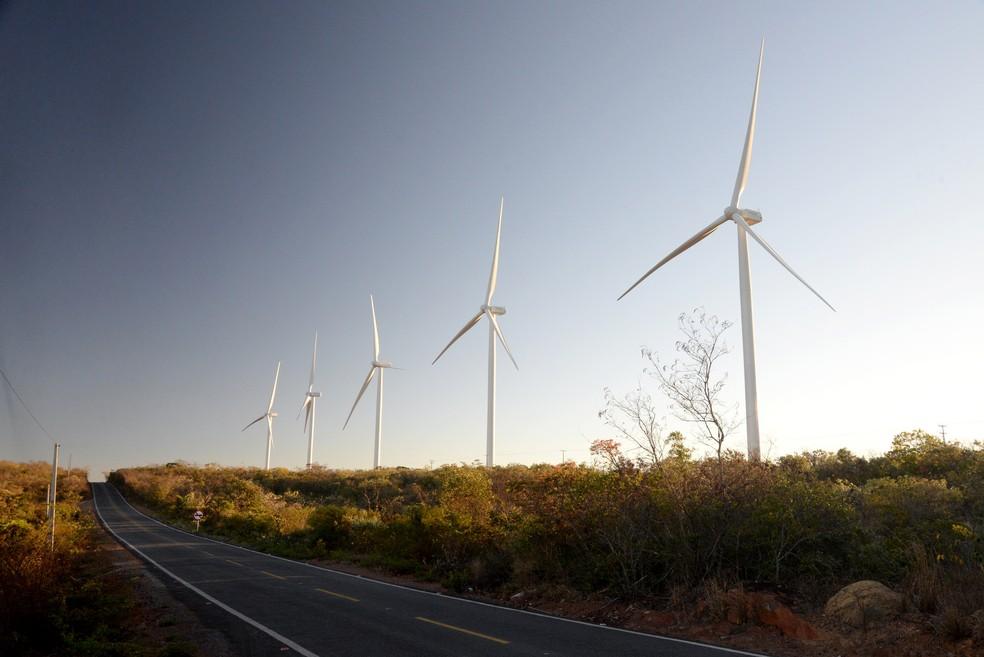 Cerca de 10 anos após o 1º leilão de fontes eólicas, Bahia lidera comercialização de parques e gera 40 mil empregos diretos — Foto: João Ramos/Ascom SDE