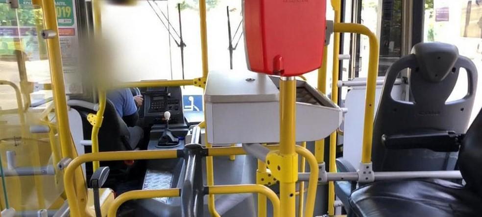 Ônibus sem cobradores em BH. — Foto: Reprodução/TV Globo