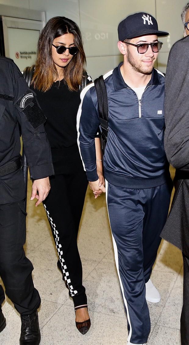 Nick Jonas e Priyanka Chopra (Foto: Manuela Scarpa/Brazil News)