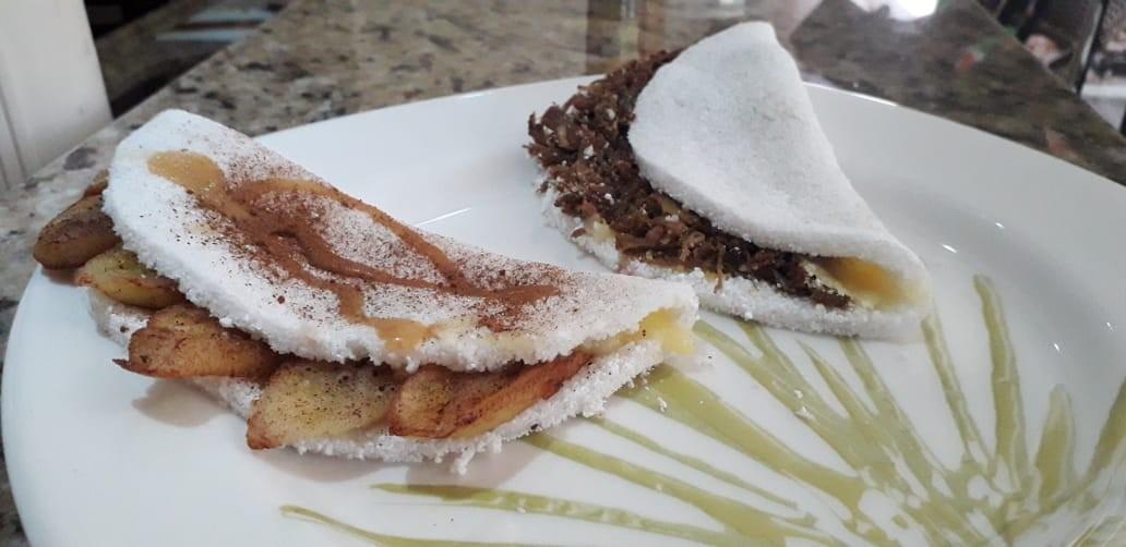 Aprenda a fazer duas versões da tradicional tapioca: carne seca e banana - Notícias - Plantão Diário