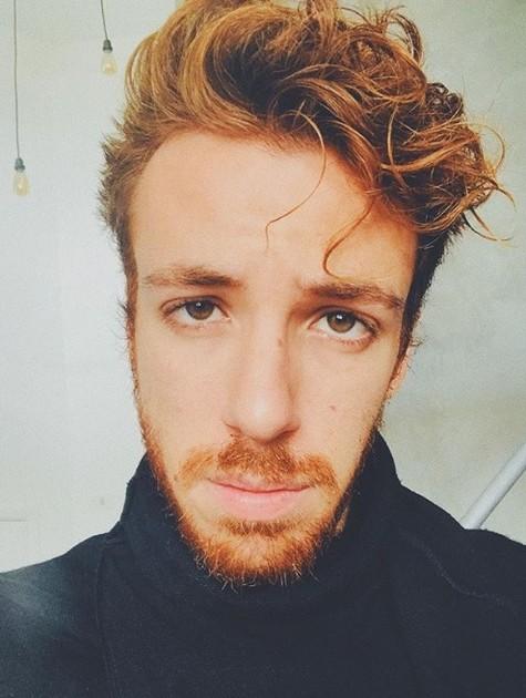 João Cortês com seu cabelo ruivo (Foto: Reprodução Instagram )