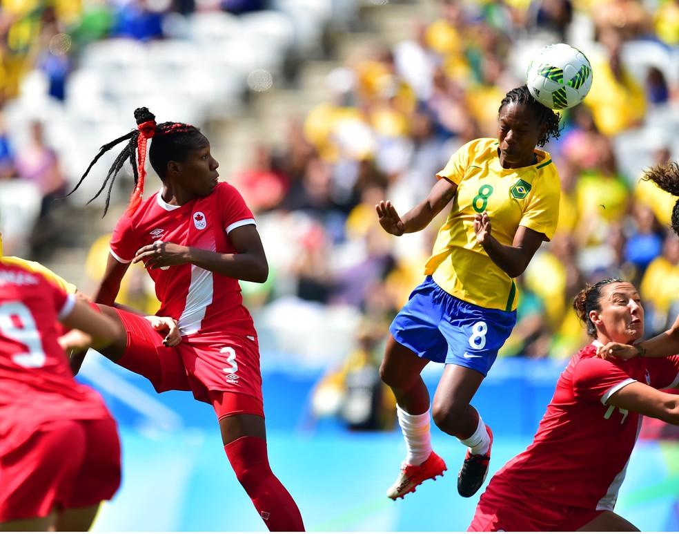 Brasil x Canadá - Olimpíadas - Formiga — Foto: Marcos Ribolli