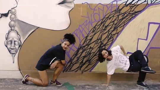 Dançarinas de break mostram talento no quadro 'Manda Ver'