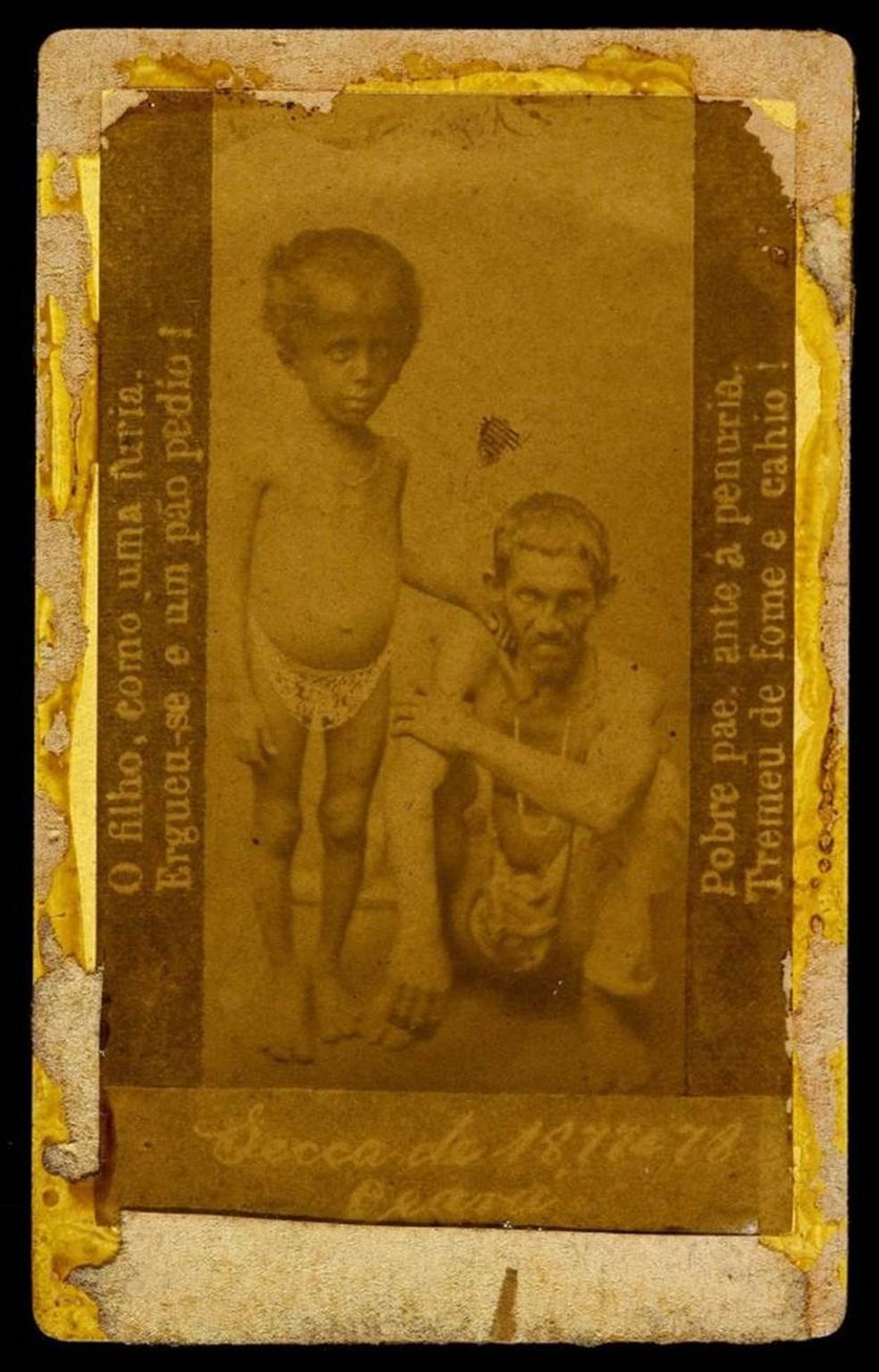 Grande seca de 1877 espalhou pobreza e miséria pelo Ceará — Foto: Acervo Biblioteca Nacional