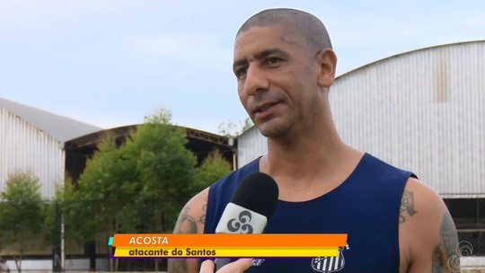 Acosta treina pela primeira vez com o Santos-AP e fala em reconquistar título do estadual