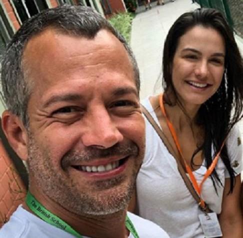 Malvino Salvador e a mulher, Kyra Gracie (Foto: Reprodução)
