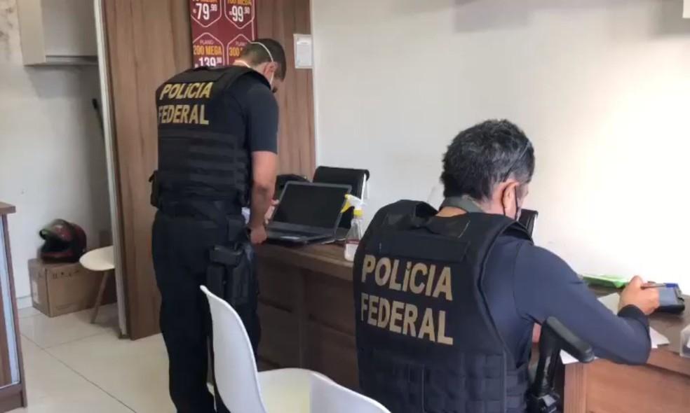 PF cumpre mandados de prisão e busca em nova operação contra fraudes em benefícios emergenciais na BA — Foto: Divulgação/Polícia Federal