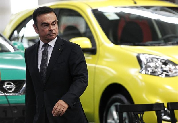 O presidente mundial da Renault e da Nissan, Carlos Ghosn, inaugura nova fábrica em Resende  (Foto:  EFE/ Antonio Lacerda)