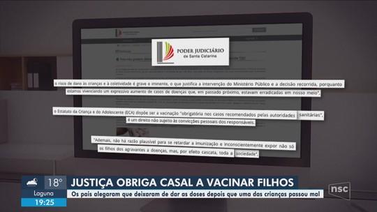 TJSC determina que pais de 3 crianças em Rio do Sul vacinem os filhos