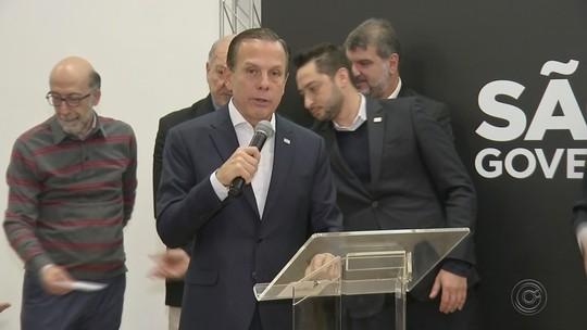Governador João Doria anuncia em Bauru investimentos na região