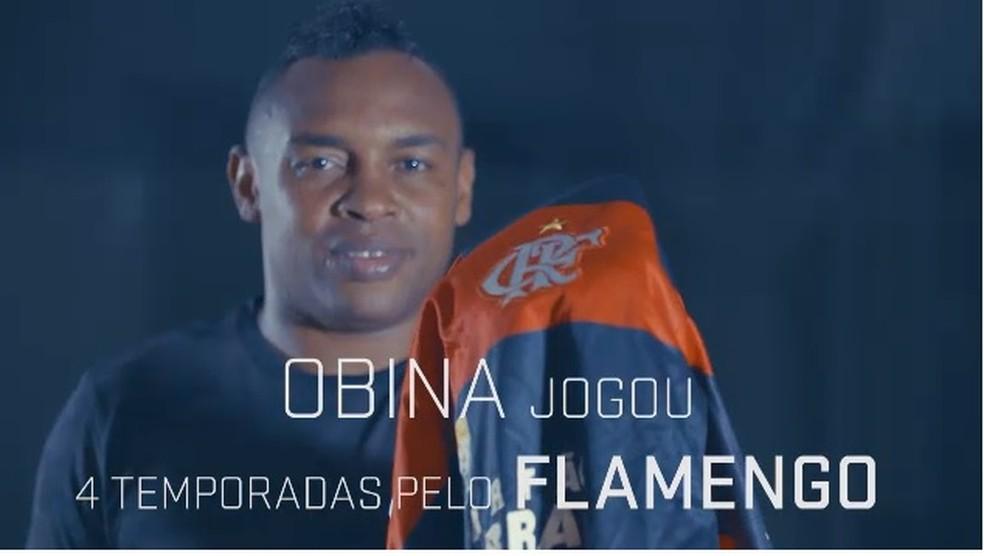 Obina é um dos xodós da torcida do Flamengo — Foto: Sportv