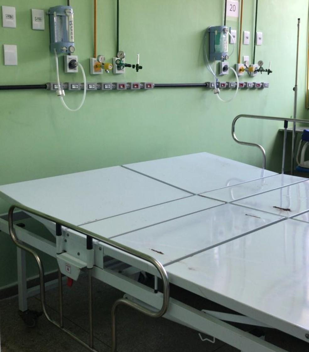 Cama foi adaptada para receber paciente — Foto: Cedida/Hospital Giselda Trigueiro