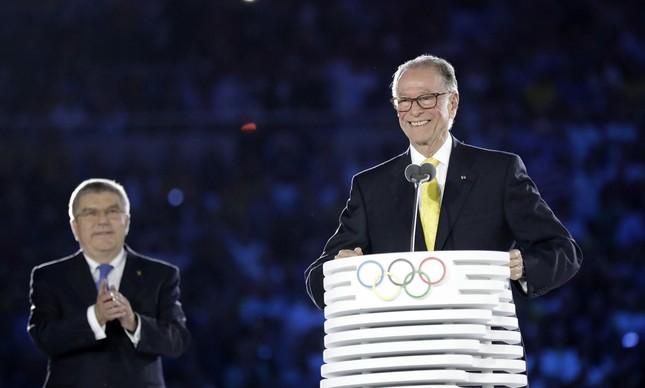 O presidente do Comitê Organizador Rio-2016 e do Comitê Olímpico Brasileiro (COB), Carlos Arthur Nuzman (Foto: David J. Phillip/AP)