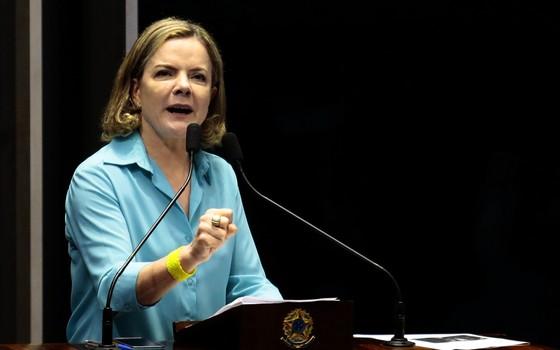 A presidente nacional do PT e senadora, Gleisi Hoffmann (Foto: Jorge William/ Agência O Globo)