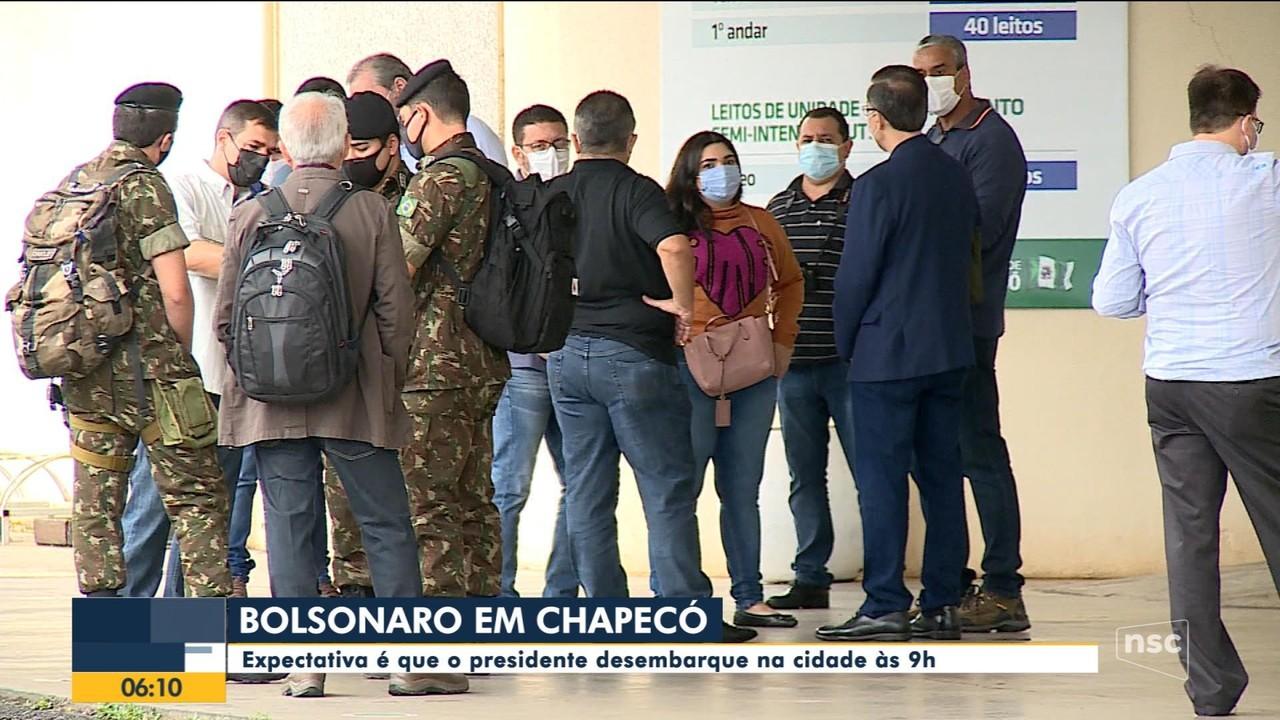 Bolsonaro visita Chapecó nesta quarta-feira