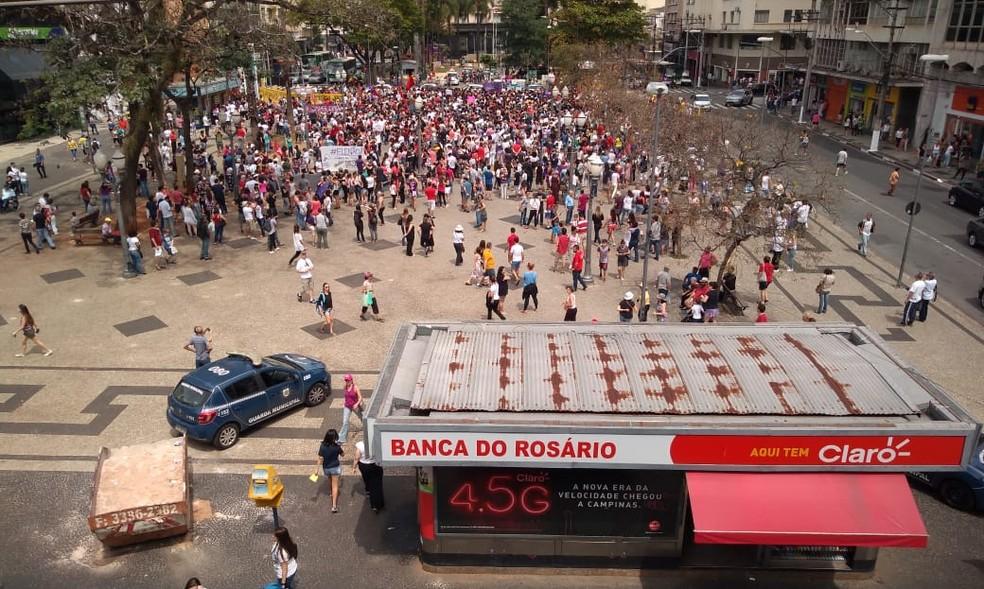 SP - Campinas: Protesto contra Bolsonaro neste sábado (29) — Foto: Roberta Campos/EPTV