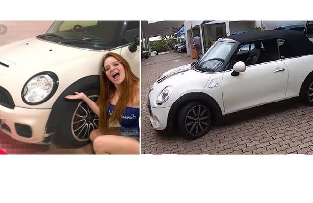 Viih Tube contou no Youtube que optou por comprar um carro de segunda mão. Seu Mini Cooper é avaliado em R$ 180 mil (Foto: Reprodução)