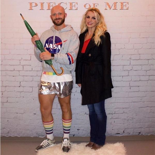 Uónder e Britney Spears (Foto: Instagram)