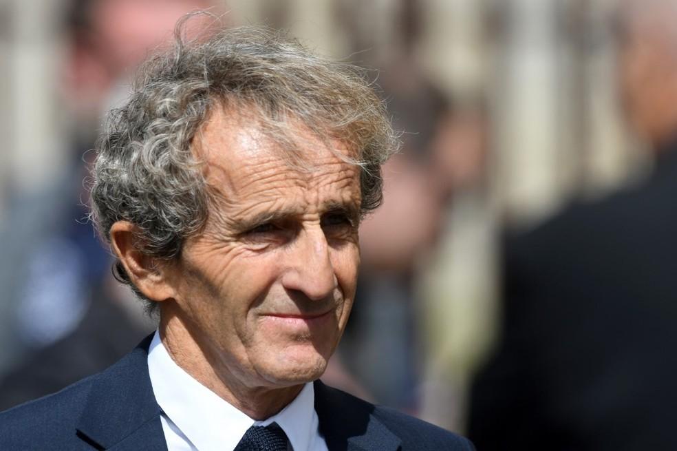 Alain Prost no funeral de Hubert — Foto: JEAN-FRANCOIS MONIER / AFP
