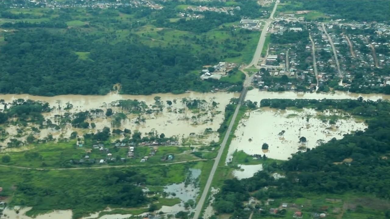 Sena Madureira e Tarauacá estão em situação complicada devido à cheia de rios
